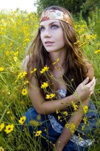 hippie en el campo
