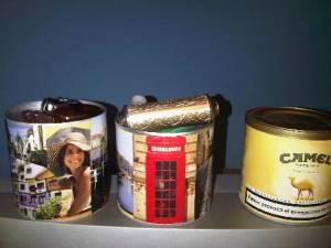 reciclando latas de tabaco de liar