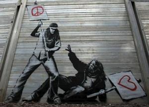 graffiti de banksi