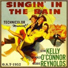 Cartel del film Cantando bajo la lluvia, estrenada en 1952