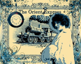 Imagen vintage del orient express