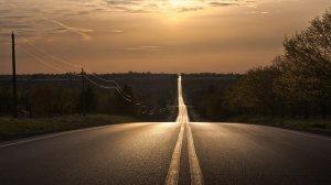 carretera solitaria