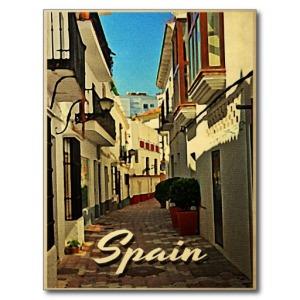 cartel viaje vintage españa