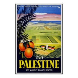 cartel vintage palestina