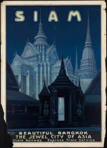 cartel viaje asia vintage